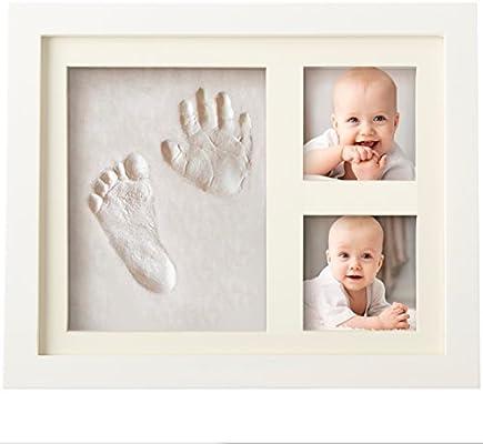 Bubzi Co Baby Handprint Kit amp Footprint Photo Frame for Newborn Girls and Boys Baby Photo Album
