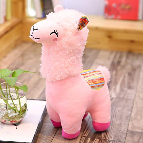 Coiny Bebe Lovely 25/35cm Plush Toy Doll Animal Stuffed Animal Dolls Soft Plush Alpaca for Kids Birthday Gifts 4 Colors Pink