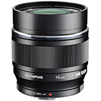 Olympus M.ZUIKO DIGITAL ED 75mm f1.8 (Black) Lens for Olympus and Panasonic Micro 4/3 Cameras (Certified Refurbished)