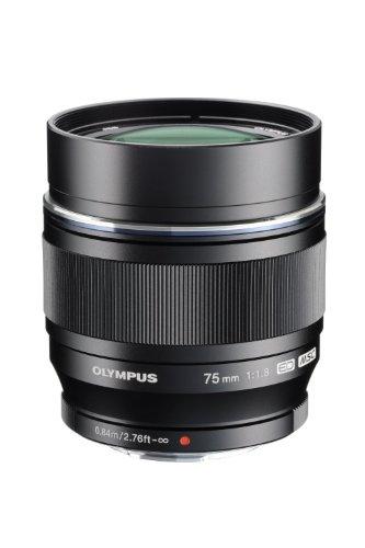 Price comparison product image Olympus M.ZUIKO DIGITAL ED 75mm f1.8 (Black) Lens for Olympus and Panasonic Micro 4 / 3 Cameras (Certified Refurbished)