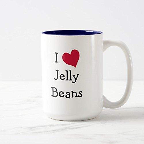 Zazzle I Love Jelly Beans Coffee Mug, Navy Blue Two-Tone Mug