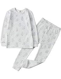 100% Organic Cotton Baby Long Sleeve Pajama Sets,Toddler Boy Girl 2-Piece Sleepwear