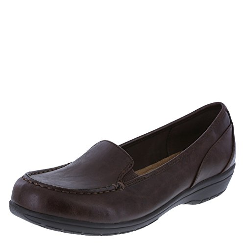 Comfort Plus by Predictions Women's Brown Women's Colby Loafer 7 Wide by Predictions