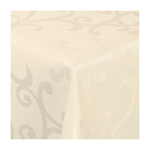 TEXMAXX Damast Tischdecke Maßanfertigung im Milano-Design in weiß 150x300 cm eckig, weitere Längen und Farben wählbar B00T2ZRNQS Tischdecken