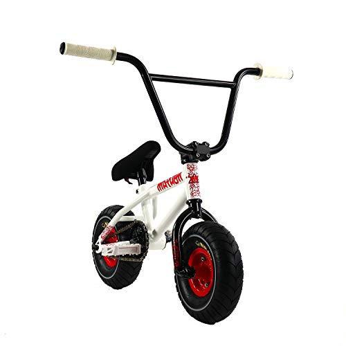 Mayhem Riot Crank Mini BMX Newest Model Trick Bike, White
