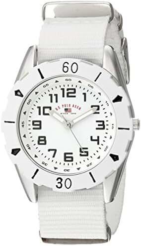 U.S. Polo Assn. Kids' USB75028 Analog Display Analog Quartz White Watch