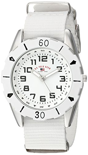 U.S. Polo Assn. Kids' USB75028 Analog Display Analog Quartz White Watch