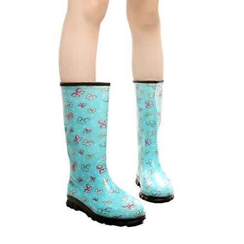 HOFFNUNG Männer Frauen Regen Stiefel Wasser Schuhe Wasser Anti-Schlamm Vier Jahreszeiten Anti-Rutsch Einfache Ungiftig,E-d F