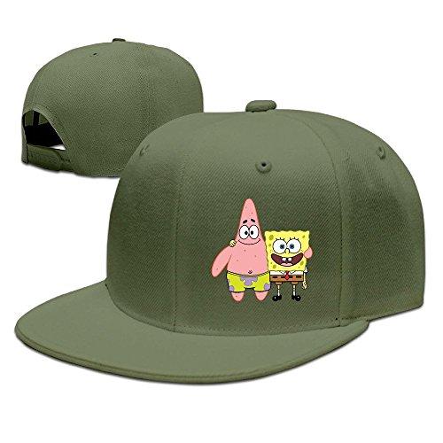spongebob-patrick-star-snail-adjustablefitted-flat-bill-trucker-hats
