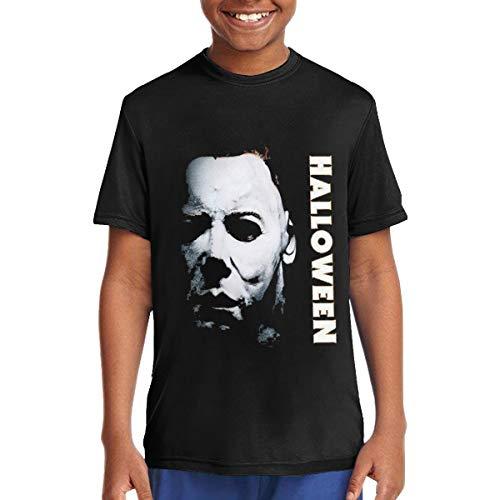 Capa Mr.Luo Halloween Michael Myers Logo Teenage T-Shirt S Black ()