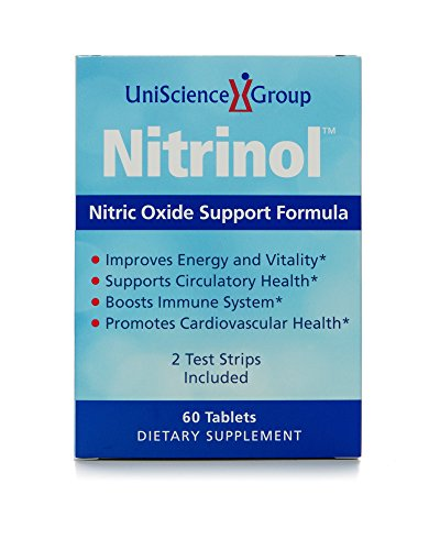 Nitrinol, Natural Nitric Oxide Booster with Beetroot Extract and 2 Free Berkeley Test Strips, 60 Tablets, 2 Box Deal as Low as $35.98 Each