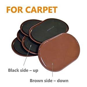 "Furniture Sliders For Carpet X-PROTECTOR – 8 pcs HEAVY DUTY 9-1/2"" x 5-3/4"" Furniture Moving Pads - Sliders for Furniture. Move Your Furniture Easy with Reusable Furniture Movers Sliders for Carpets!"