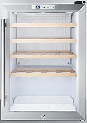 Summit SCR312LWC2 Countertop Beverage Refrigeration, Glass/Black