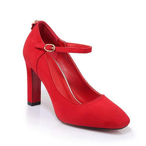 Balamasa Apl10755 Zeppa Red Donna Con Sandali rrd6AqU