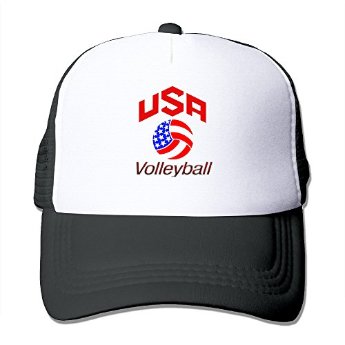 Fashion-Team-Usa-Volleyball-Adult-Nylon-Adjustable-Mesh-Hat-Mesh-Cap-Black-One-Size-Fits-Most