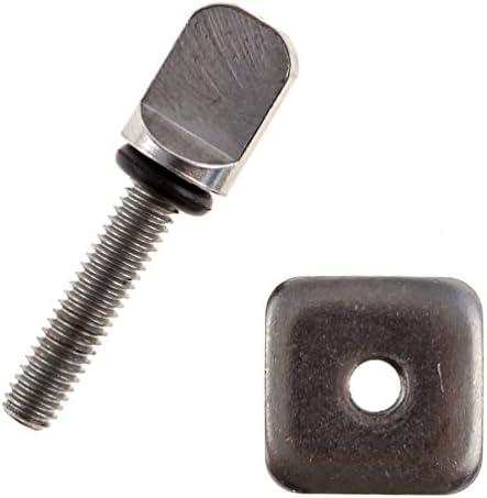 2 Packs,Stainless Easy wonder screw E-Z Fin bolt ADJUSTABLE longboard FIN BOLT