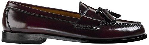 Burgundy Leather Loafers Shoes - Cole Haan Men's Pinch Tassel Loafer, Burgundy, 9.5 D US