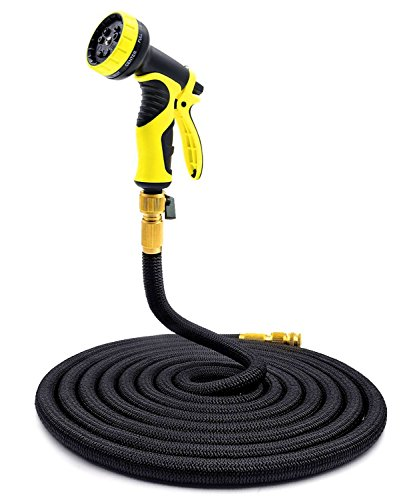 Garden Hose Pipe 100ft KingTop Expandable Magic Hose Stretch Hosepipe with 9 Function Spray Gun [Updated (Expandable Spiral)