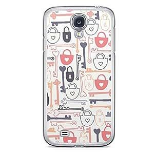 Love Lock Samsung Galaxy S4 Transparent Edge Case - Design 3