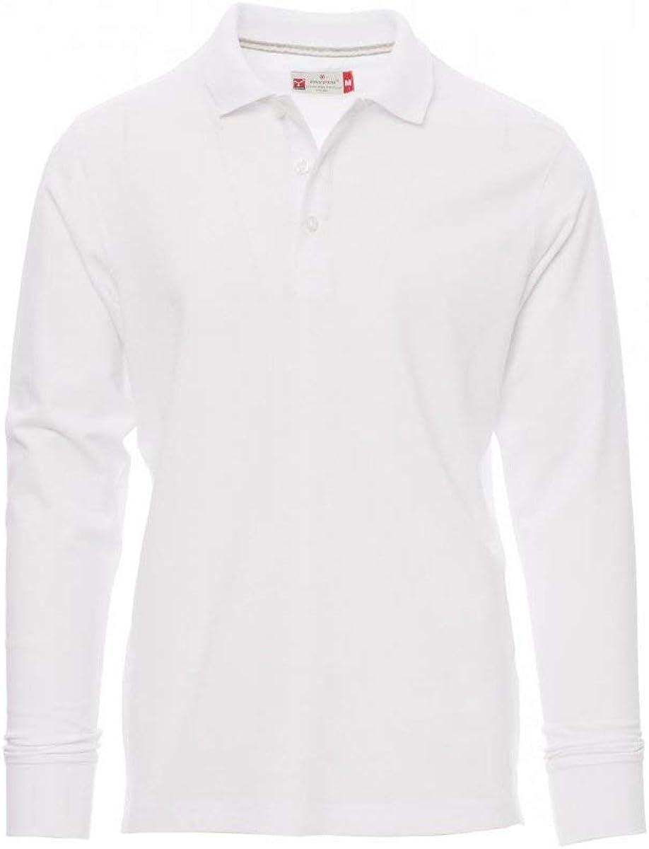 PAYPER Florence - Polo de Manga Larga para Hombre, 100% algodón ...