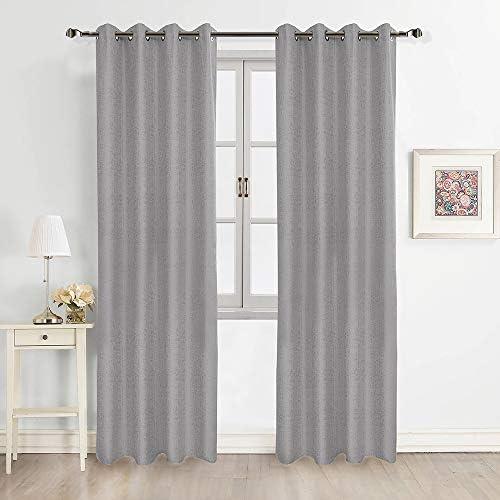 FULAN Jacquard Curtains 108″ Length 2 Panels