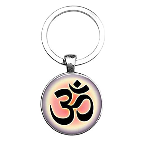 Llavero con símbolo OM, llavero de yoga, llavero inicial ...