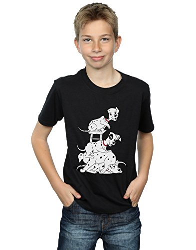 Disney Boys 101 Dalmatians Chair T-Shirt Black 9-11 Years]()