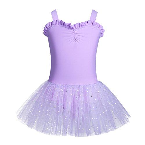 iiniim Kids Girls Shimmering Ballet Dance Tutu Dress