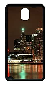 Ablaze With Lights And Beauty Of The City Custom Designer Samsung Galaxy Note 3 / Note III/ N9000 - TPU - Black