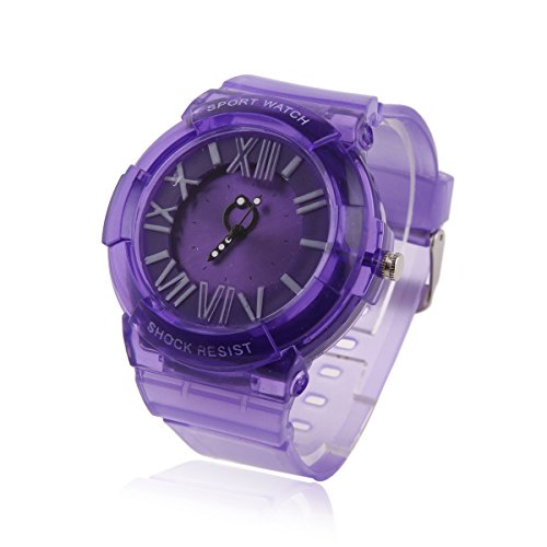 Damara Teens Boy's Silicone Shock Resist Sport Watches,Purple by Damara