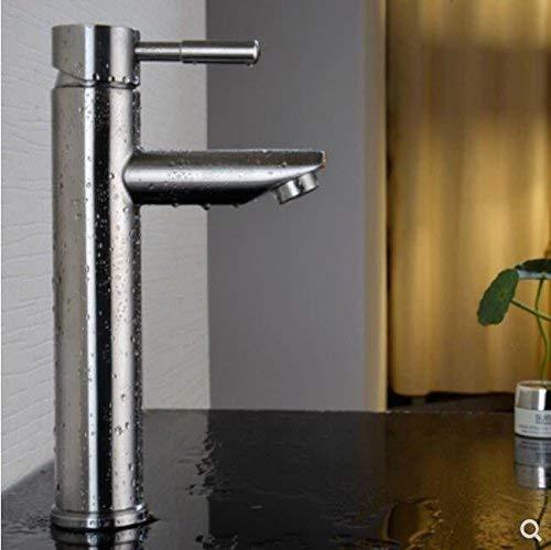 Eeayyygch Importierter Waschraum aus rostfreiem Edelstahl, Handhahn, warmes, kaltes, warmes und bleifreies Waschbecken. (Farbe   -, Größe   -)