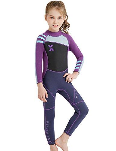 DIVE & SAIL Wetsuit Girls, Neoprene Dive Suit Swimwear For Girls - Buoyant Wetsuit