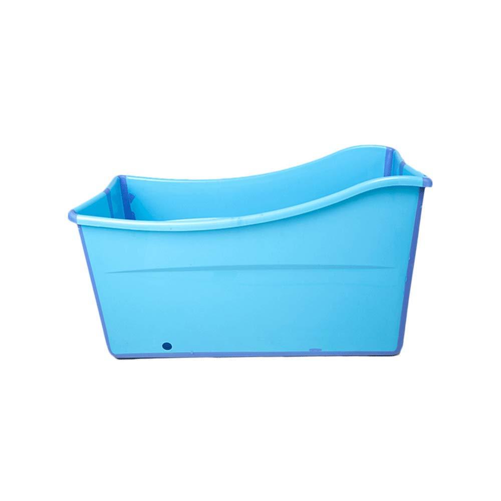 La Ba/ñera Aprobada para Beb/és Alarga La Ba/ñera con Aislamiento Plegable De Pl/ástico Grueso para Ba/ños De Ba/ños para Adultos En Casa,Blue