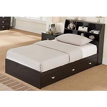 Benzara Luxurious Twin Size 3 Drawers, Dark Brown Chest Bed