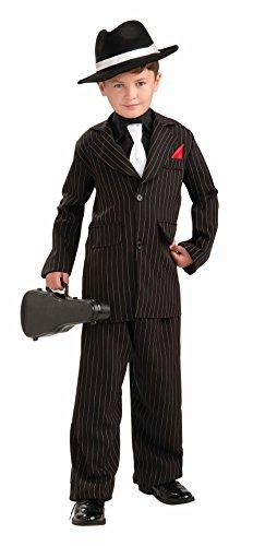 1920's Dress Up Costumes (Forum Novelties Littlest Gangster Child Costume, Medium)