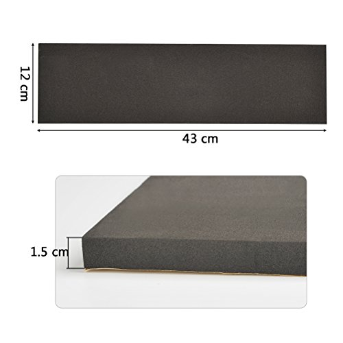 QLOUNI 4Pcs Super Thick Waterproof Garage Wall Protector Car Door Bumper Self Adhesive Foam Parking Protector (4.5 x 0.6 x 17.3 inches) by QLOUNI (Image #3)'