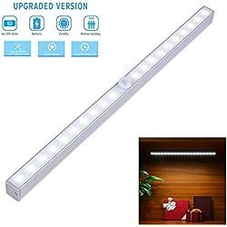 Automatic Universal 3 Switching Home Lighting Sensor Wireless Bright Light 10+10 LEDs Widely use for Storage Box, Wardrobe, Interior Decoration, Doorway, Display Bookshelf, Garage, Kitchen Etc. LDS010