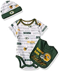 NFL boys 3 Pack BODYSUIT CAP AND BIB SET...