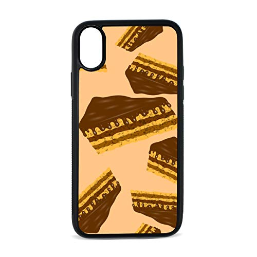Chocolate Mousse Dessert Color Digital Print TPU Pc Pearl Plate Cover Phone Hard Case Cell Phone Accessories Compatible with Protective Apple Iphonex/xs Case 5.8 Inch