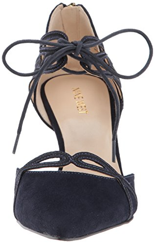 Suede Navy Fabric Nine West Zapatilla Mujeres Talla xwWq6fO
