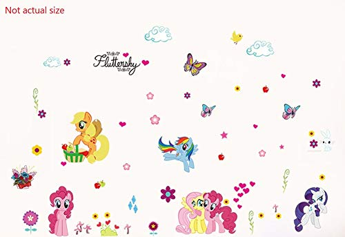 (GoBuyMall Peel and Stick Wall Decals Stickers for Children & Kids & Baby & Nursery Wall Art Room Decor (My Little Pony.) )