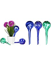 """8"""" Aqua Glass Self Watering Globes - 3 Pack - by Trademark Innovations"""