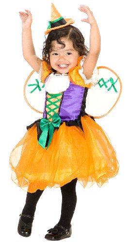 Toddler Pumpkin Witch Costume - Child X-Small 4