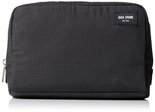 Jack Spade Men's Holiday Gift Slim Toiletry Kit, Black, One Size