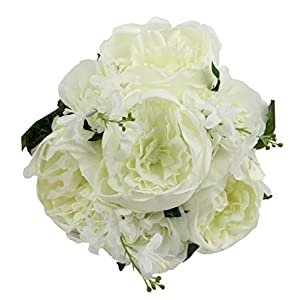 Admired By Nature 10 Stems Faux English Rose Bud Bouquet 26