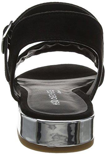 Niccy Sandals fibre Black Over micro Ankle Heels Black Head Strap WoMen t7Rnf