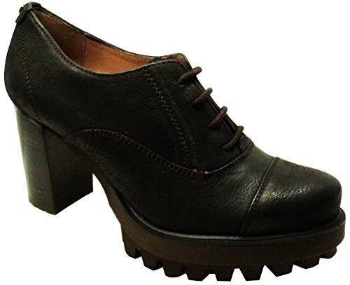 PEDRO MIRALLES 29452 Zapatos de Piel con Tacón Ancho y Cuña