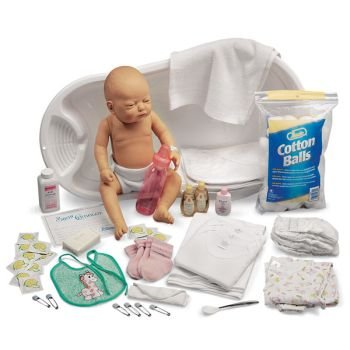 Baby Care Kit with White & Black Baby