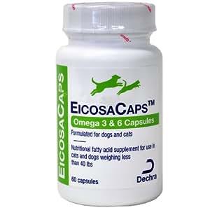 Dechra eicosacaps omega 3 6 c capsules up for Fish oil capsules for dogs