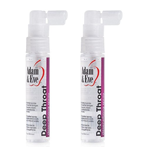 Adam And Eve Adult Costumes (2x Adam Eve Deep Throat Desensitizer Spray Lube Lubricant)